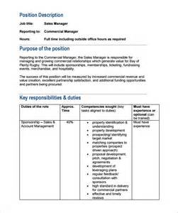 description sle template 10 property manager description templates free