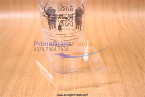 Plastik Tenteng Gelas Thai Tea kantong tenteng quot t quot take away ala dum dum thai size 12 14 16 20 22 24 oz stock ready home