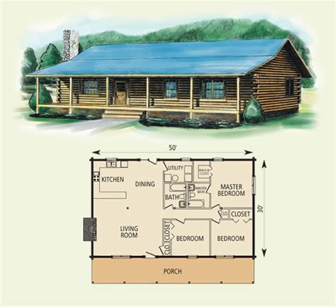 Simple Log Cabin Floor Plans | springfield