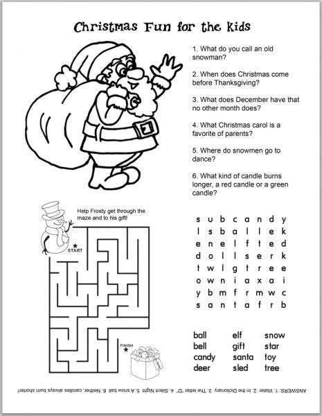 images of christmas activities free christmas kids activity sheets and coloring sheets