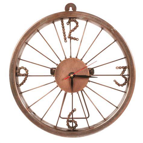Handmade Bicycle Wheels - bike wheel clock with bike chain numbers