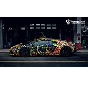Really Cool Wrap Of The Lamborghini Aventador