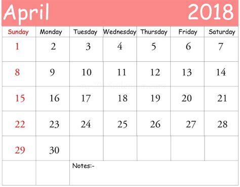 printable calendar 2018 excel april 2018 printable calendar calendar template excel