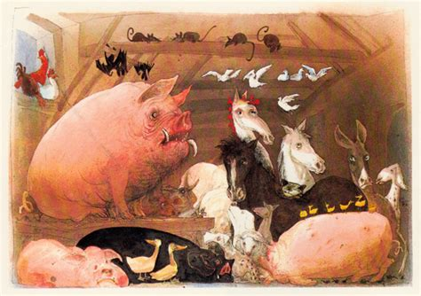 libro animal farm the illustrated george orwell s animal farm illustrated by ralph steadman brain pickings