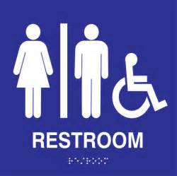 ada restroom signs stock blue and white stg signs