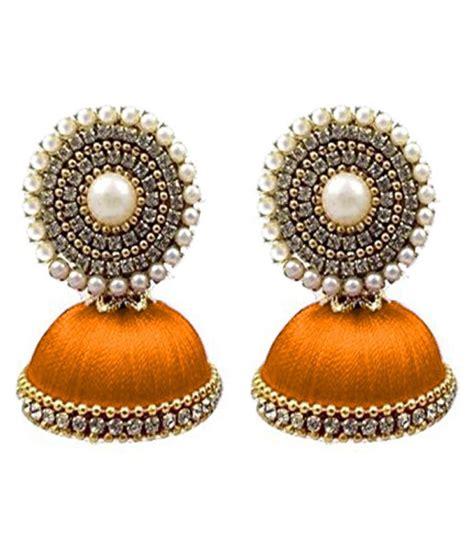 Handmade Thread Jewellery - handmade silk thread earrings buy handmade silk thread
