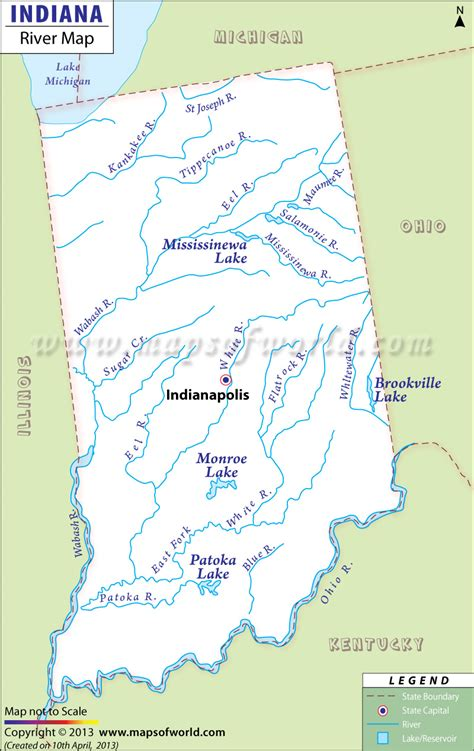 Indiana Find Indiana River Map Notre Dame Rivers And Lakes