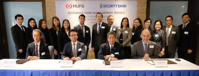 Mitsubishi Ufj Fund Services Security Bank Mufg Launch Interbank Fund Management Service