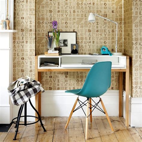 lettered wallpaper home office home office idea