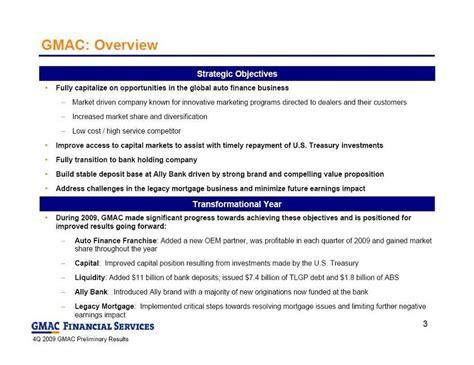 Gmac Credit Application Form Ally Financial Inc Form 8 K Ex 99 2 Exhibit 99 2 February 4 2010