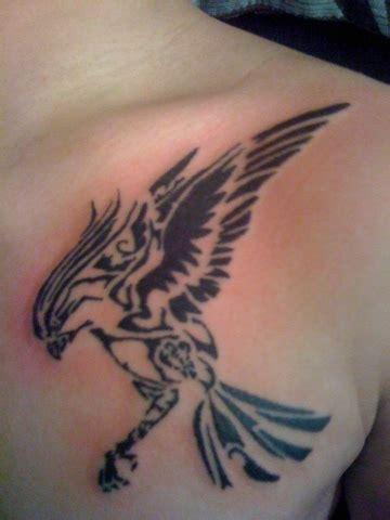 hawk tribal tattoo tribal flying hawk on chest
