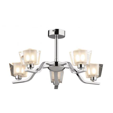 dar lighting lichfield lic0550 polished chrome semi flush