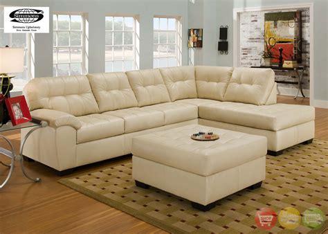 Simmons Soho Sofa by Simmons Soho Ivory Leather Sectional Sofa W