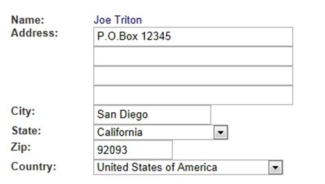 business letter address with po box how to enter a mailing address in the addresses tool