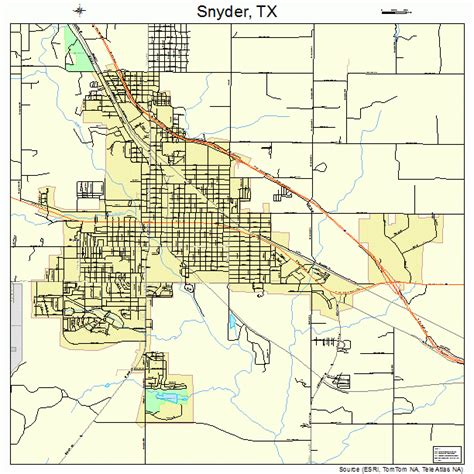 snyder texas map snyder texas map 4868624