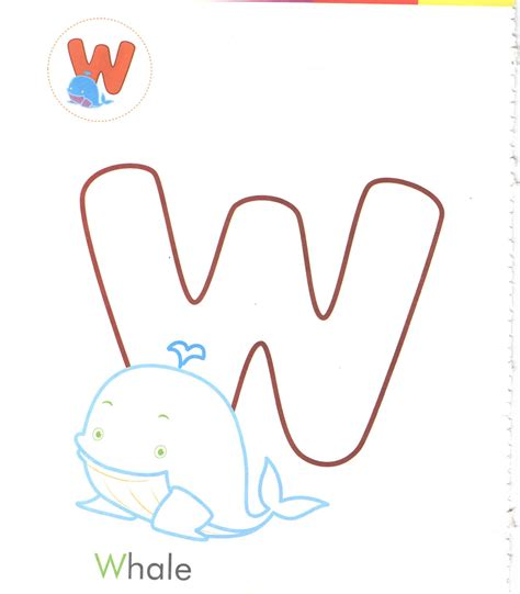 preschool coloring pages letter w alphabet letter w whale coloring page for preschool