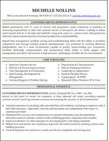 free sle resume for customer service representative call center resume objective sle