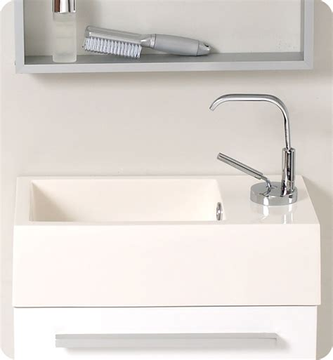Small Modern Bathroom Vanity Sink Fresca Pulito Small White Modern Bathroom Vanity Soft