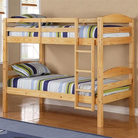 Organic Bunk Bed Mattress by Bunk Bed Solid Wood Bunk In Attractive Finish