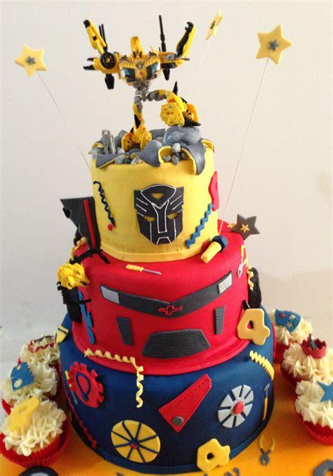 transformer birthday cake transformers