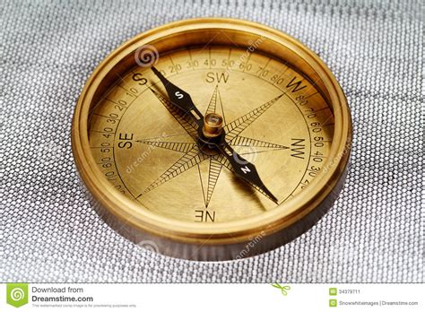 close up of antique compass stock image image 34379711