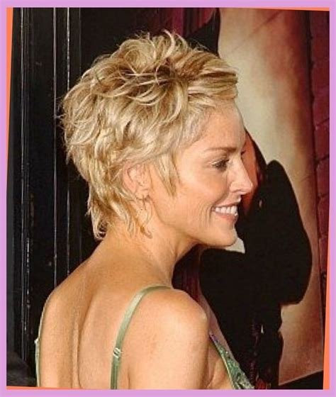 sharon stone hairband sharon stone hair style from the back hair styles