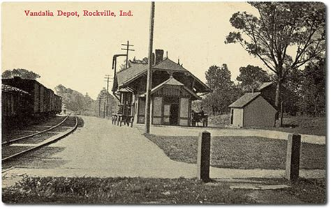 vandalia railroad depot rockville indiana flickr