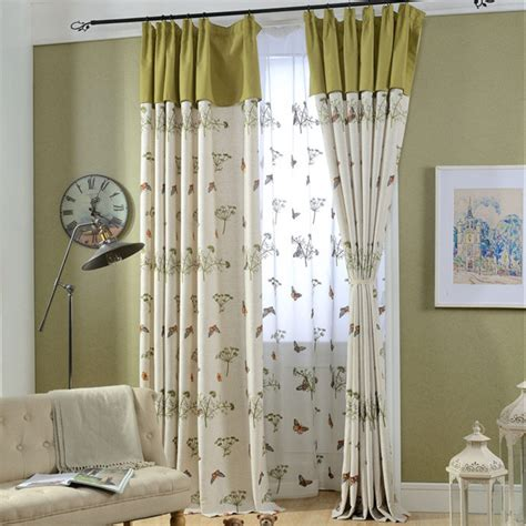 green living room curtains beige and lime green butterfly botanical living room curtains