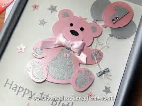 birthday bear luxury handmade 1st birthday card