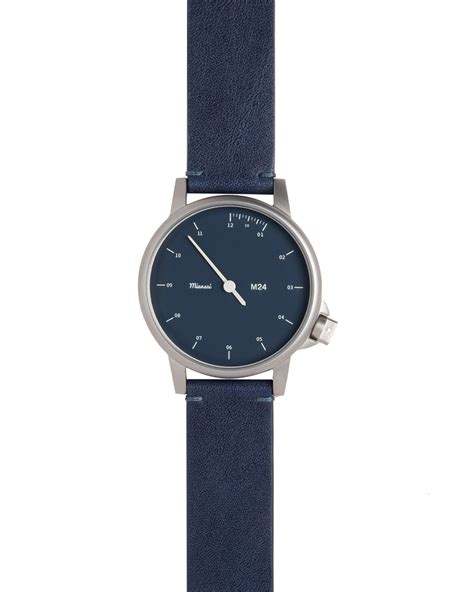 miansai stainless steel with leather in blue