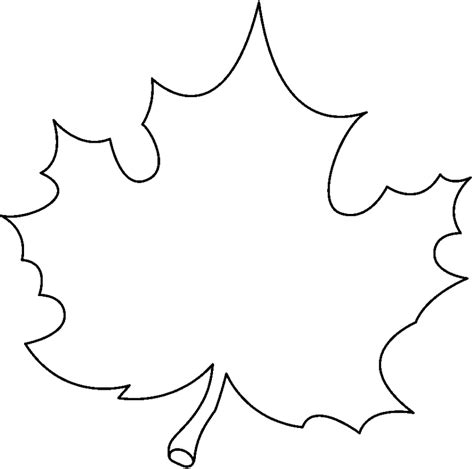 Leaf White fall leaves clip black and white clipartion