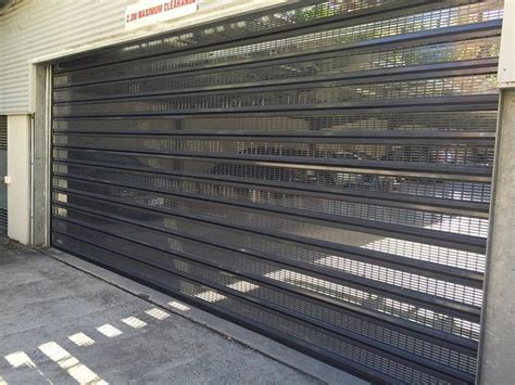 perforated roller shutters air flow secure garage