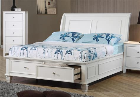 Hermosa Beach White Full Size Platform Bed Lowest Price