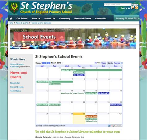 google calendars school