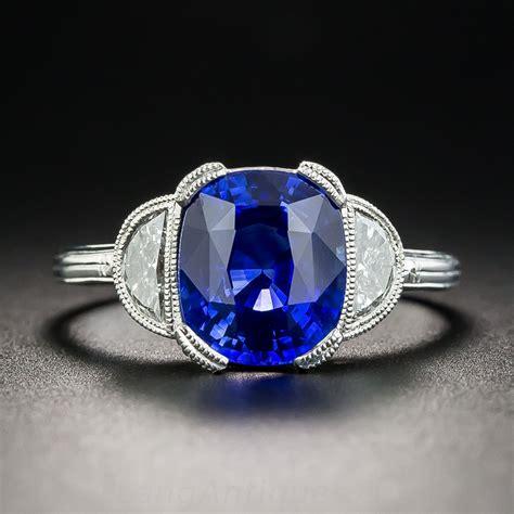 carat ceylon sapphire platinum diamond ring