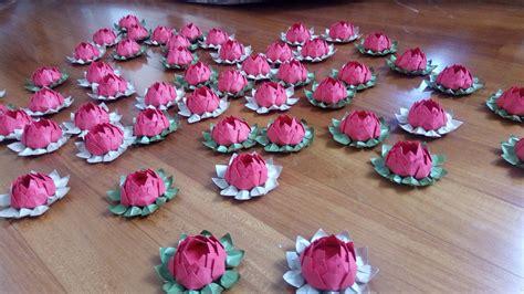 origami fiori di loto 50 bomboniere laurea origami fiori di loto feste