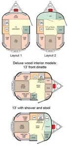 Camping Trailer Floor Plans scamp 13 travel trailer floorplans large picture