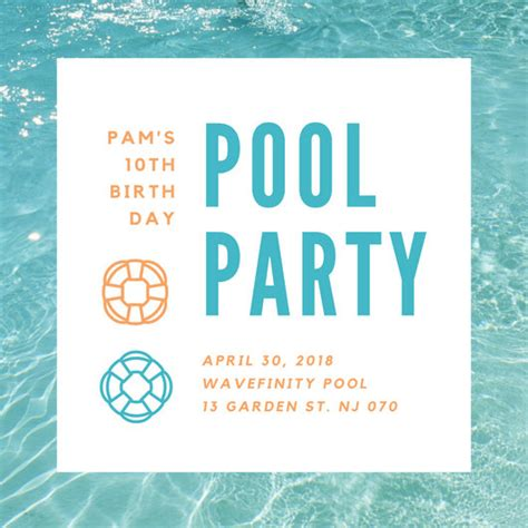 Pool Party Invitations Templates Koriath Info Evite Template Custom