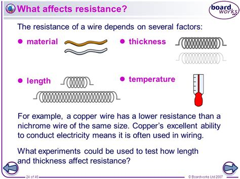 what do resistors affect boardworks gcse additional science physics resistance and resistors ppt