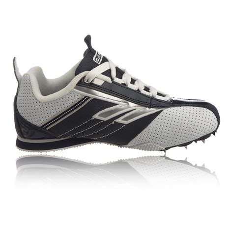 sport shoes spikes hi tec track junior white blue running spikes trainers