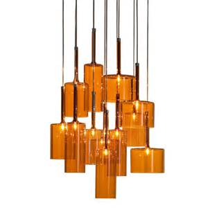 Orange Pendant Light Axo Light Spillray Spspil12arcr12v Orange Pendant Ceiling Light Axo Light From Lightplan Uk