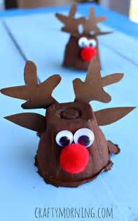 egg carton reindeer craft for christmas crafty morning