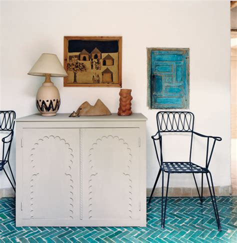 beautiful traditional furniture in moroccan house