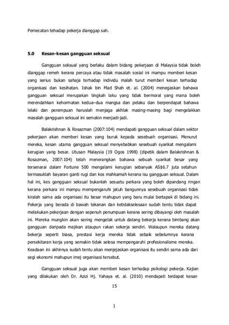 gangguan seksual dalam sektor pekerjaan di malaysia