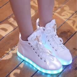 new glowing casual shoes high top light up shoes