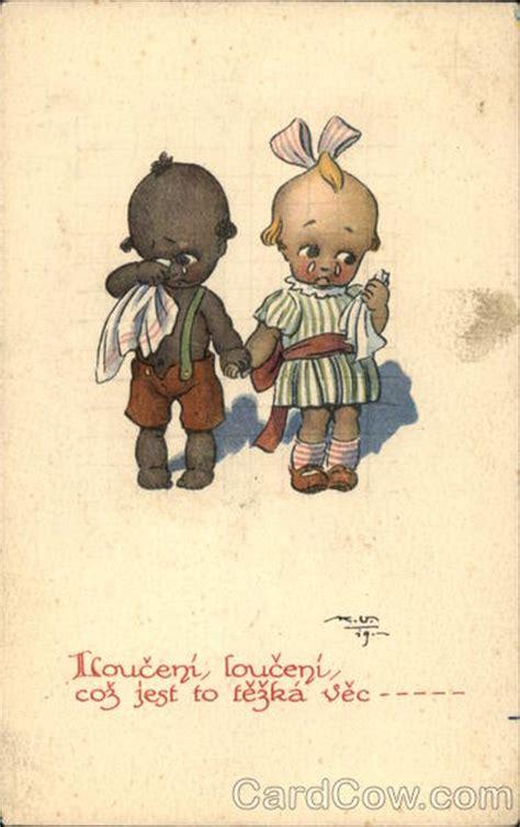 kewpie kards quot saying goodbye quot black boy white kewpie children