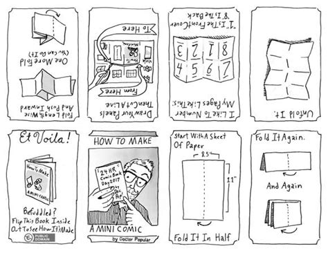 Make A Mini Book Challenge by How To Make Mini Comics My Guide To Cutting And Folding