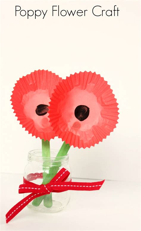 poppy crafts for poppy flower craft make and takes