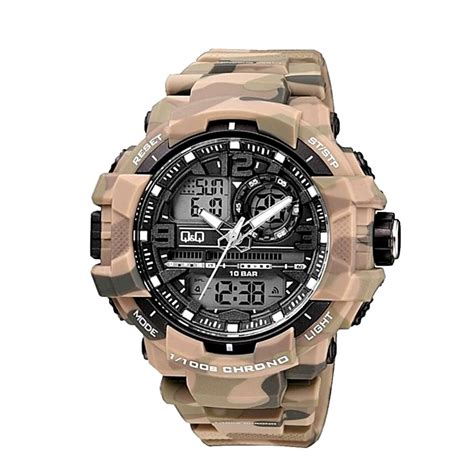 q q citizen camouflage series army style s wrist watchcentre pk