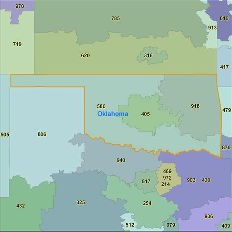 select printable area pdf oklahoma area code maps oklahoma telephone area code maps